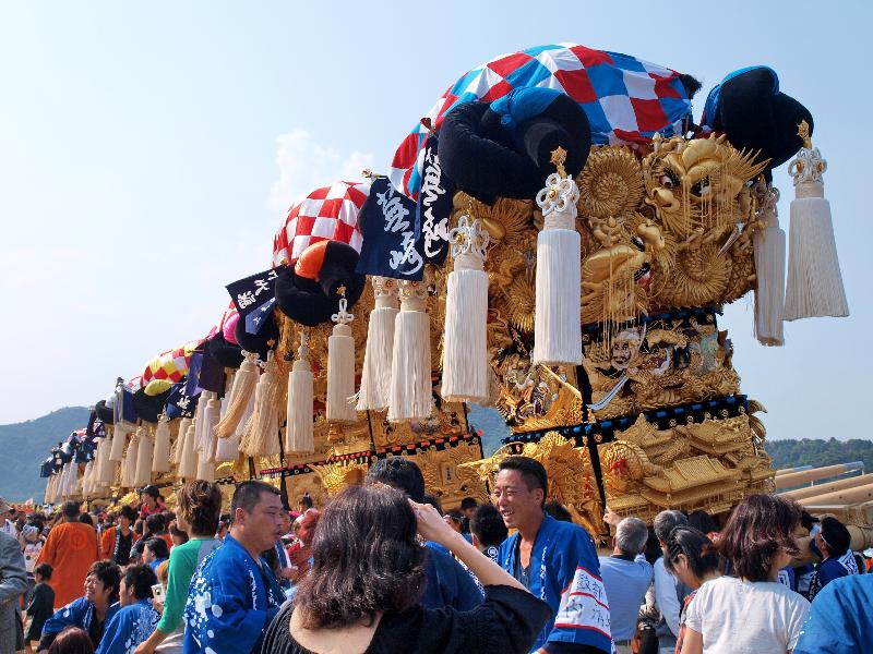 土居秋祭り 関川 かきくらべ 北野太鼓台