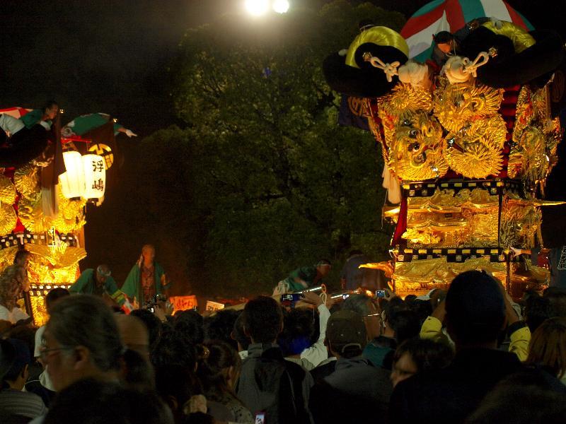 新居浜太鼓祭り 八旗神社 かきくらべ 浮島と宇高
