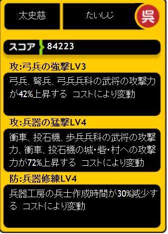 太史慈スキルLV1