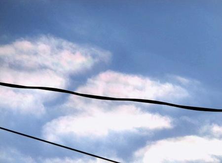 紀元節の彩雲