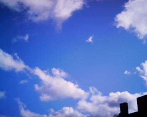 青空が続く新潟市・・・