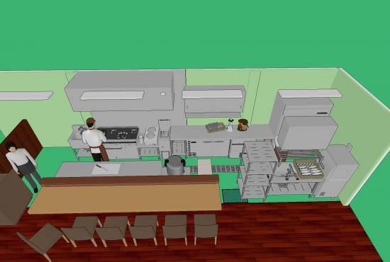 3D厨房レイアウト
