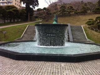 函館浄水場噴水