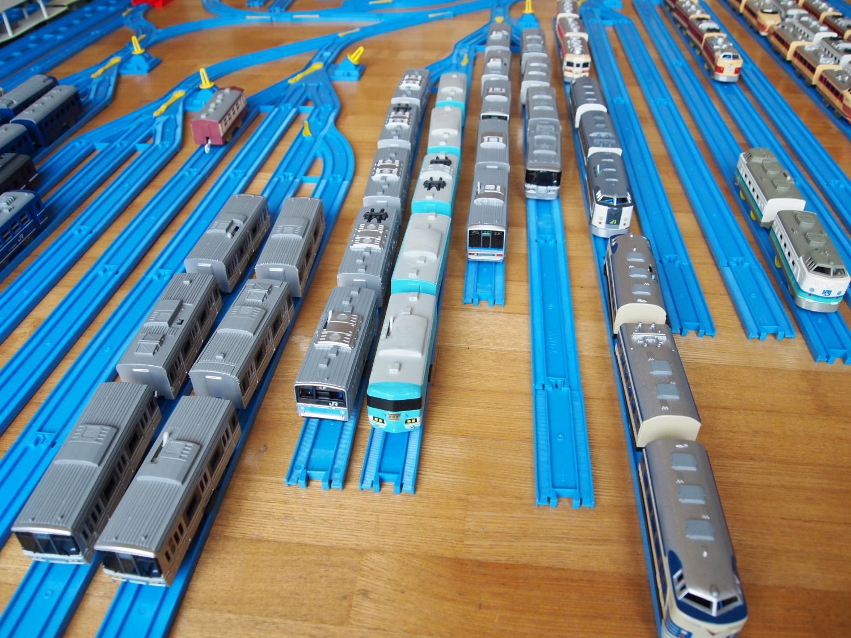 通勤・近郊型車両の留置線