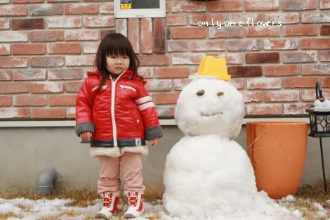 いち と 雪だるま