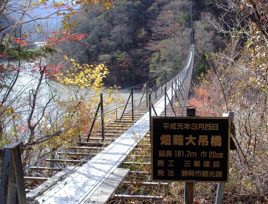 畑薙大吊橋②