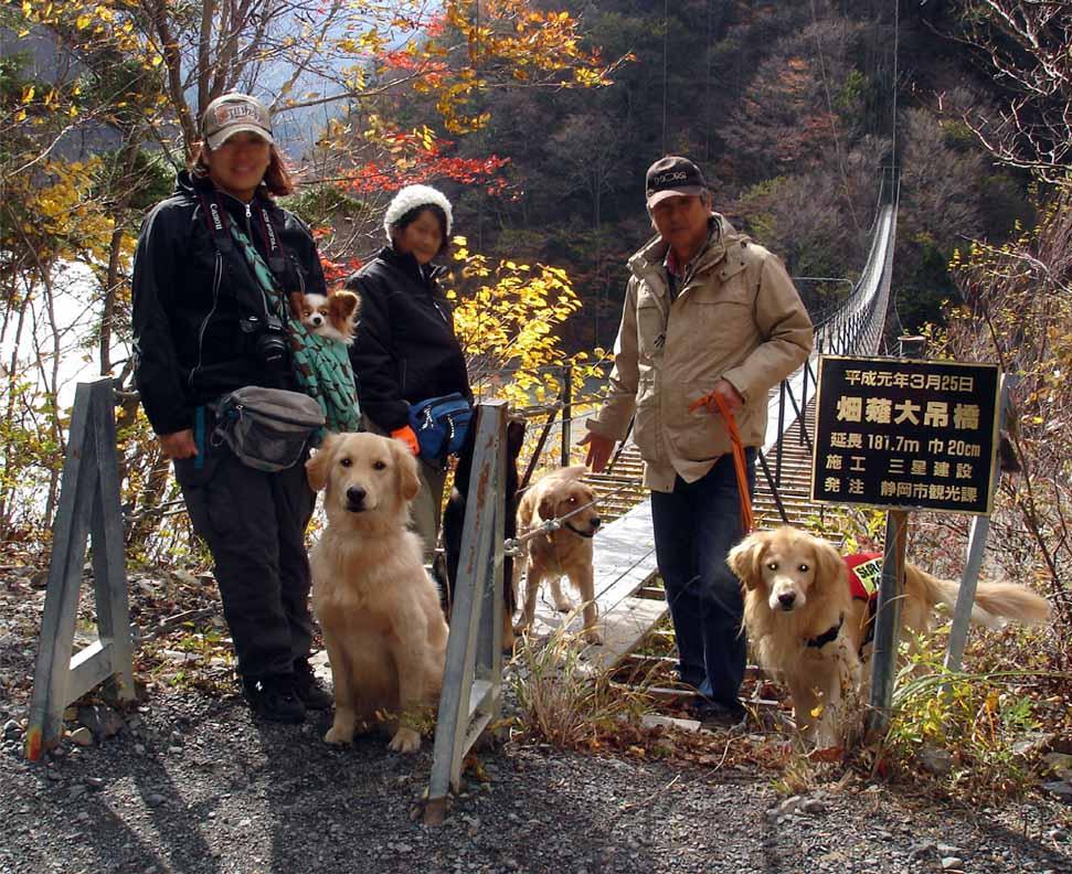 畑薙大吊橋29 記念撮影