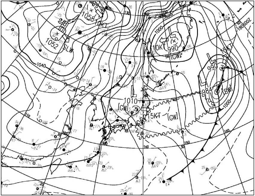 2009年12月17日15時の地上天気図