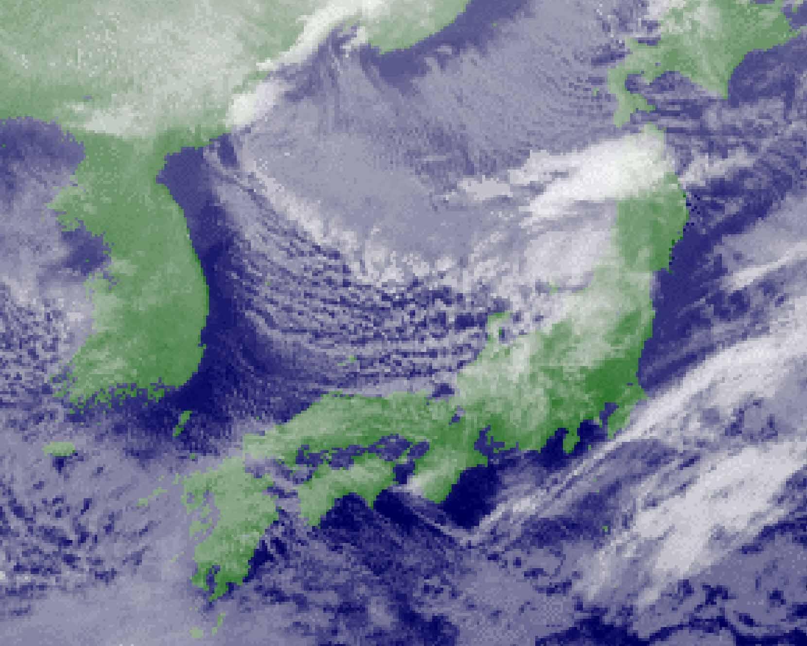 2009年12月17日15時の赤外画像