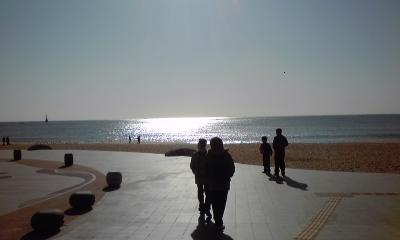 釜山の海はとてもきれいでした