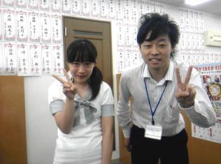 上杉さんと吉田先生です!