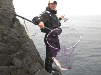 釣長イサキタモ縮小