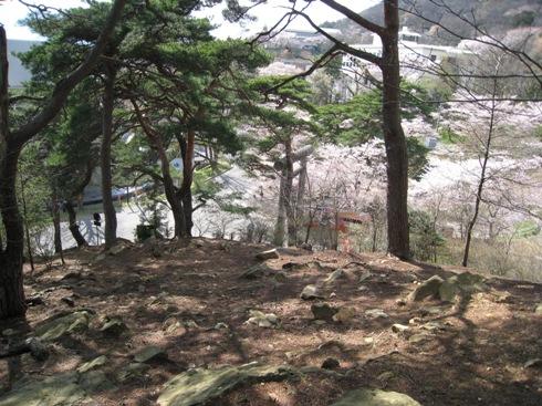 信夫山公園から