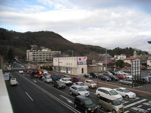 郵便局前陸橋から信夫山