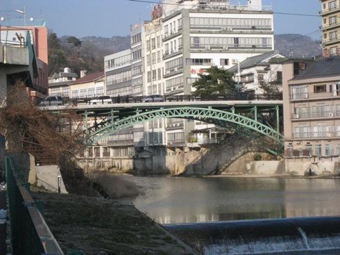 飯坂散歩十綱橋