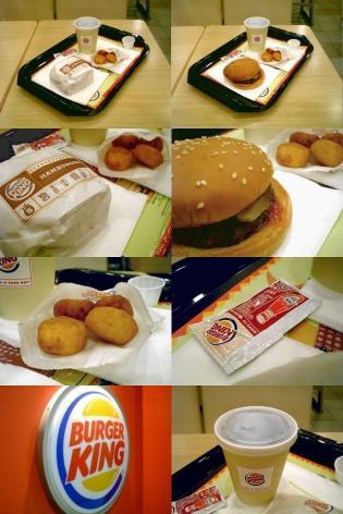 バーガーキング、ハンバーガーとコーラゼロSとチーズビッツ4