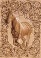 馬と蓮のフラワーデザイン