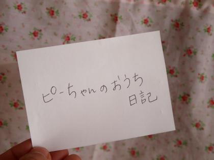 くじ『ピーちゃんのおうち日記』