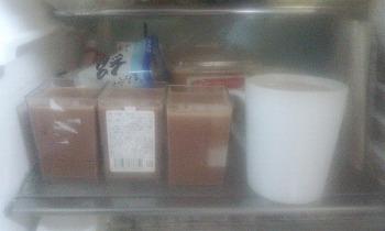 チョコレートミルクプリン 冷蔵庫で冷やす