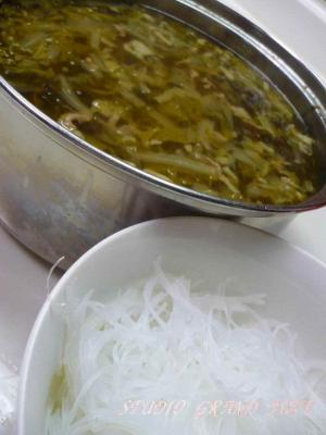 高菜と白菜のスープ