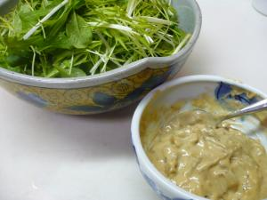 水菜のアンチョビサラダ