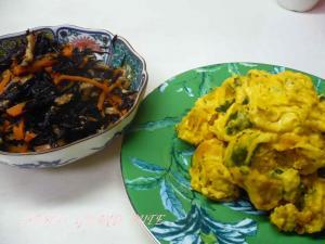 ひじきの煮物&南瓜のクリームチーズサラダ