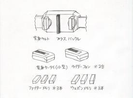 仮面ライダープラスの変身アイテム