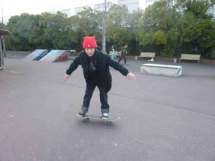 スケート中