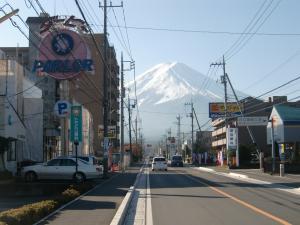 富士山のお出迎え