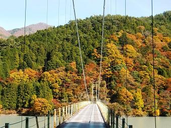 つり橋と紅葉