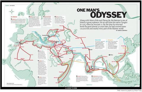 イブン・バットゥータの30年の旅の足跡