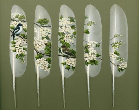 白鳥の羽根というキャンバスを見つけた画家