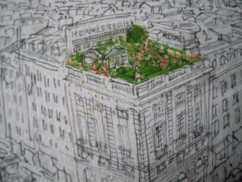 青リンゴ? エルメスの新しい香り「屋根の上の庭」