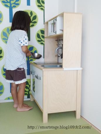 和室にままごとキッチン3