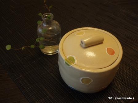 20110507水玉のふたつき鉢