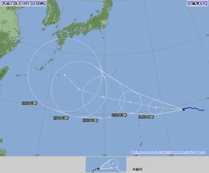 2011台風6