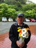 被災地に100本の花