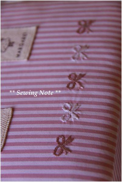 リボンの刺繍