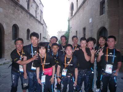 ロードス旧市街の選手団