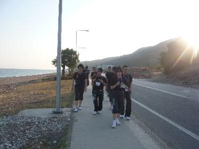 海岸を散歩