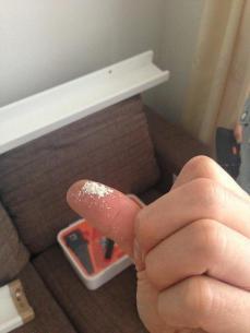 石膏ボードの粉