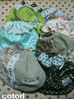 stitch ガーリー巾着 2010.8.25 4