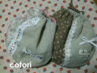 stitch ガーリー巾着 2010.8.25 1