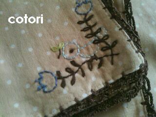 ガーゼハンカチ 縁編み 2011.8.1 2