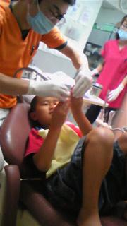 歯医者で練習