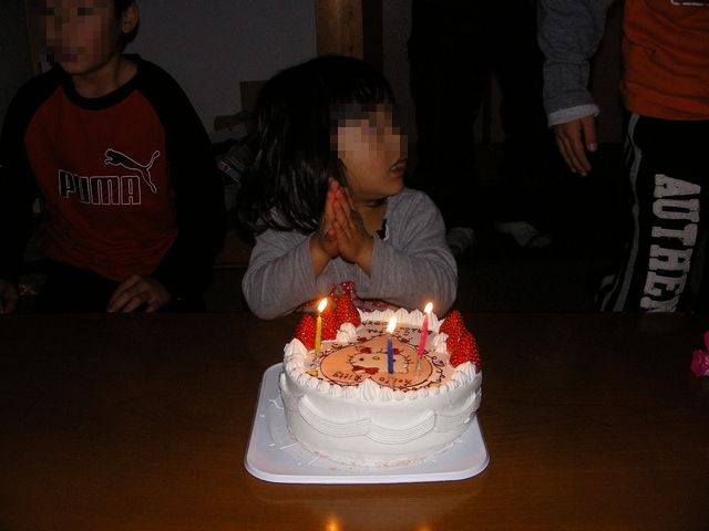 娘3歳誕生会