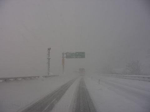 2012雪道白川付近