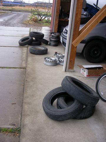 Kカータイヤ組み換え