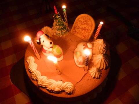 クリスマスケーキはアイス