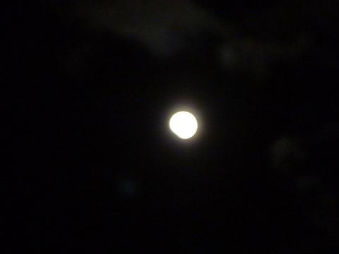 よく晴れた西の空に満月が…